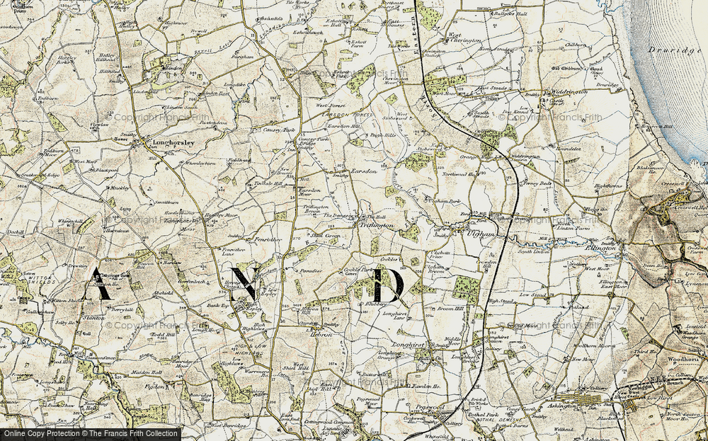 Old Map of Historic Map covering Bailiff's Letch in 1901-1903
