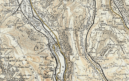 Old map of Bargod Taf in 1899-1900