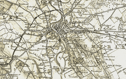 Old map of Larchfield in 1901-1905