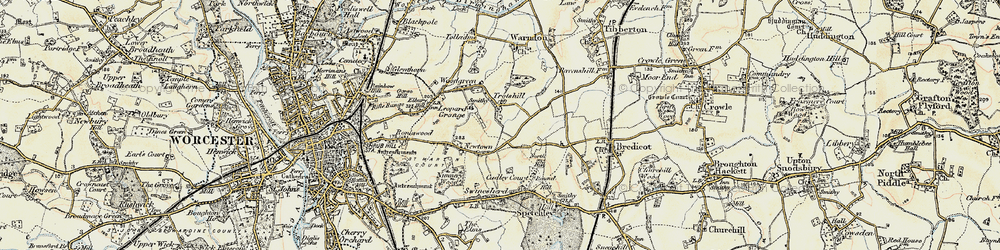 Old map of Withy Wells in 1899-1902