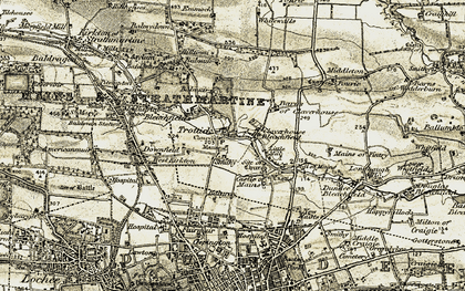 Old map of Trottick in 1907-1908