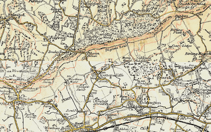 Old map of Whitehorse Wood in 1897-1898