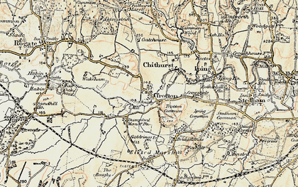 Old map of Trotton in 1897-1900