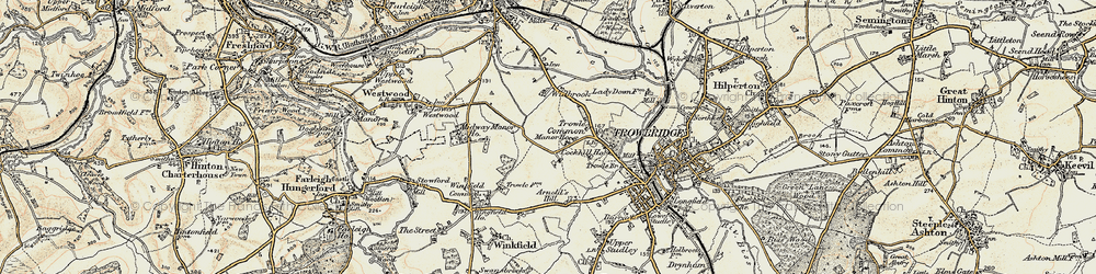 Old map of Wingfield Ho in 1898-1899