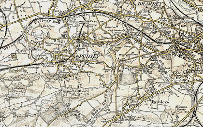 Old map of Acres Hall in 1903