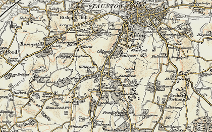 Old map of Trull in 1898-1900