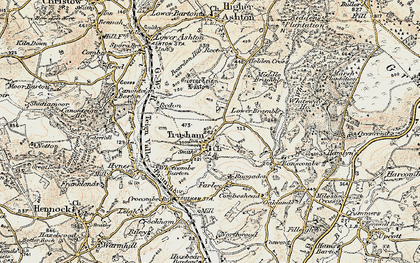 Old map of Whiteway Wood in 1899-1900