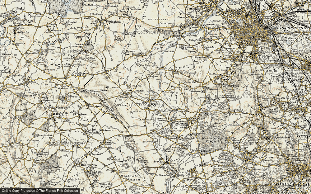 Old Map of Historic Map covering Awbridge Br in 1902