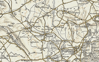 Old map of Awbridge Br in 1902