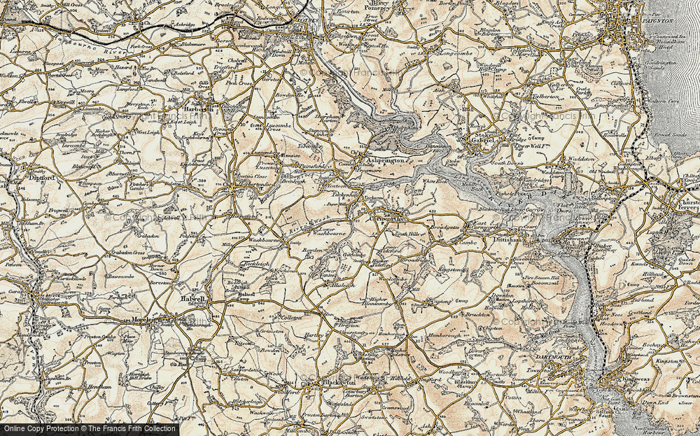 Old Map of Tuckenhay, 1899 in 1899