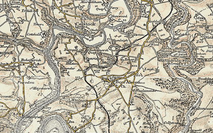 Old map of Ashen in 1899-1900