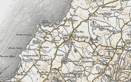Old map of Tudweiliog in 1903