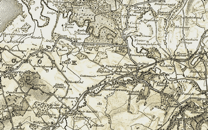 Old map of Wester Cameron in 1905-1907