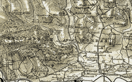Old map of Whiteside in 1908-1910