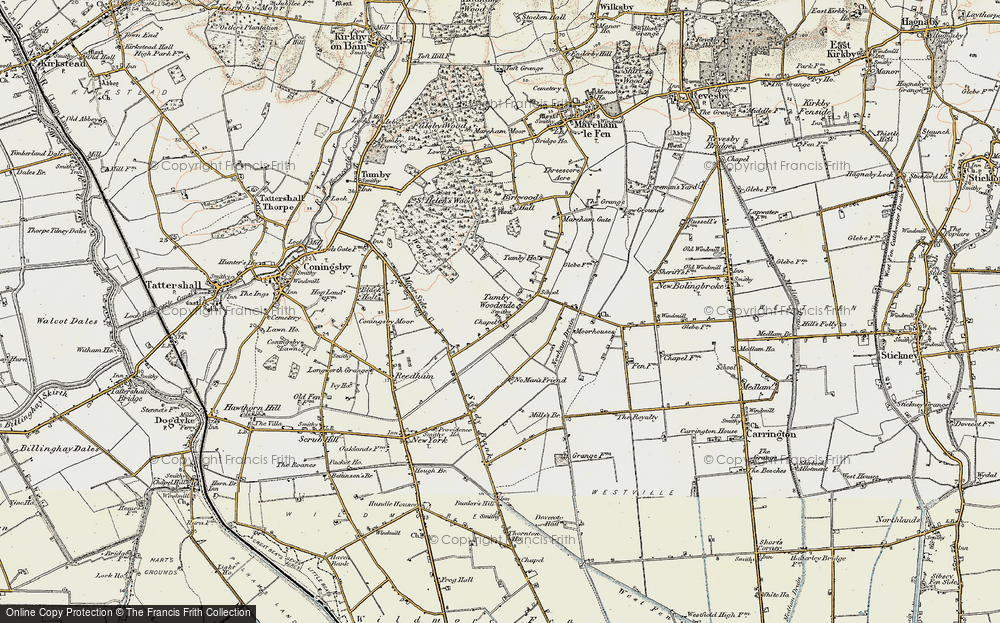 Old Map of Tumby Woodside, 1902-1903 in 1902-1903