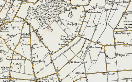 Old map of Tumby Woodside in 1902-1903