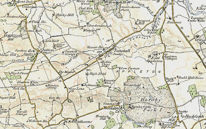 Old map of Tunstall in 1903-1904