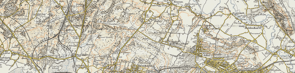Old map of Turbary Common in 1897-1909