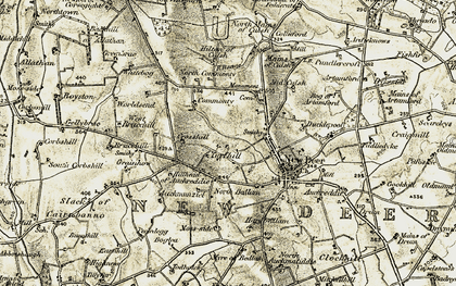 Old map of Ardieknowes in 1909-1910