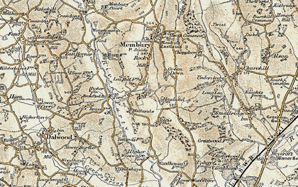 Old map of Yarty Ho in 1898-1900