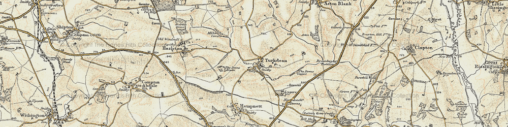 Old map of Leygore Manor in 1898-1899