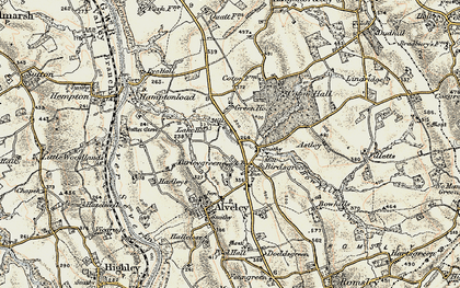 Old map of Astley in 1901-1902