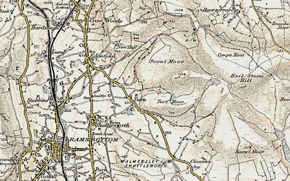 Old map of Whittle Hill in 1903