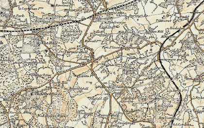 Old map of Turners Hill in 1898-1902