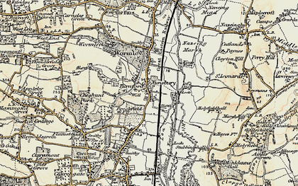 Old map of Turnford in 1897-1898
