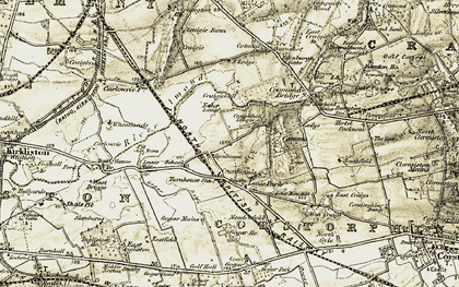 Old map of Lennie Mains in 1903-1906