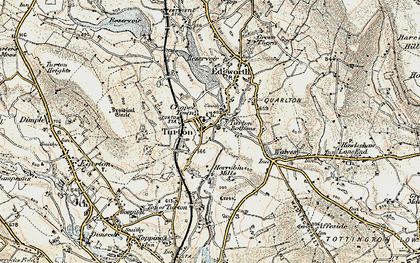 Old map of Turton Bottoms in 1903