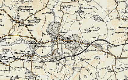 Old map of Turvey in 1898-1901