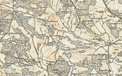 Old map of Turville Heath in 1897-1898