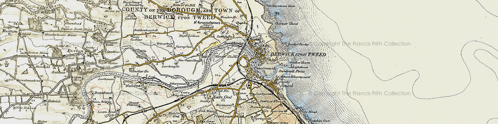 Old map of Yarrow Slake in 1901-1903