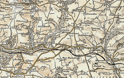Old map of Ashford Br in 1900