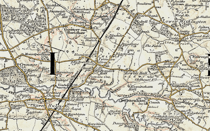 Old map of Twemlow Green in 1902-1903