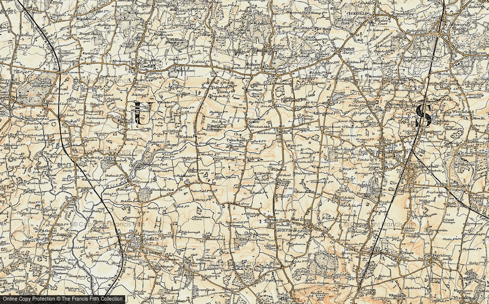Old Map of Historic Map covering Lanehurst in 1898