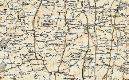 Old map of Lanehurst in 1898