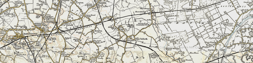 Old map of Twiss Green in 1903