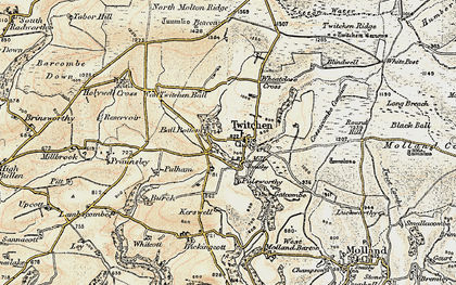 Old map of Badgercombe in 1900