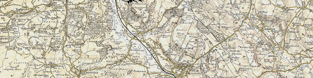 Old map of Two Dales in 1902-1903