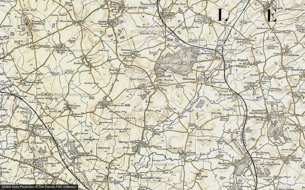 Old Map of Twycross, 1901-1903 in 1901-1903