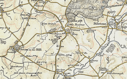 Old map of Twycross in 1901-1903