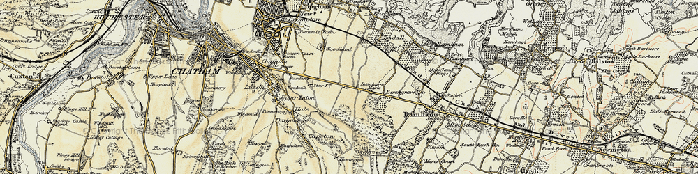 Old map of Ambley Wood in 1897-1898