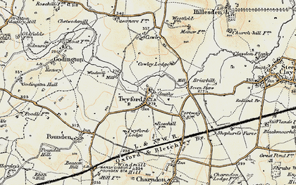 Old map of Twyford in 1898-1899
