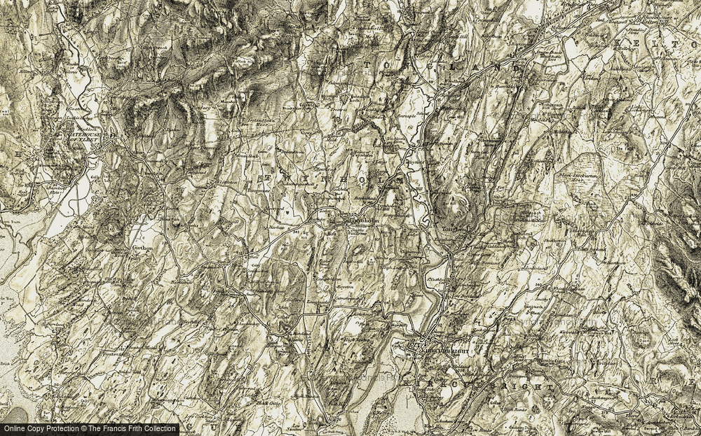 Old Map of Historic Map covering Baerlochan in 1905
