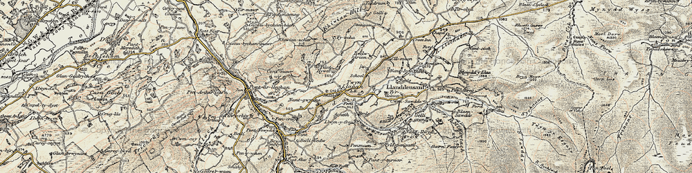 Old map of Tir-Howel in 1900-1901