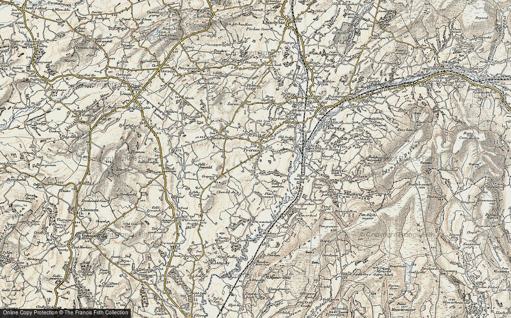 Old Map of Tycroes, 1900-1901 in 1900-1901
