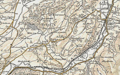 Old map of Wigdawr in 1902-1903