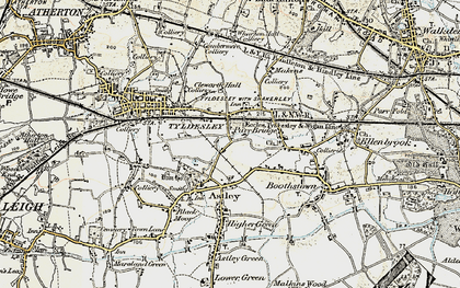 Old map of Tyldesley in 1903